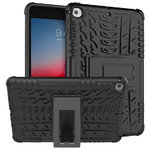 Dual Layer Rugged Shockproof Case & Stand for Apple iPad Mini (5th Gen) - Black